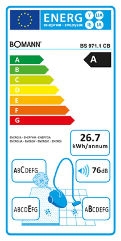 bomann staubsauger energieeffizienz staubsauger im. Black Bedroom Furniture Sets. Home Design Ideas