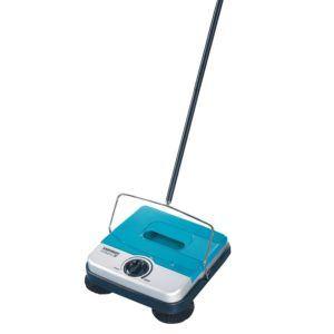 Leifheit Teppichkehrer Rotaro S türkis, Teppichkehrer ohne Strom und Kabel, stufenlos höhenverstellbar, Teppichreinigung mit drei Kehrbürsten