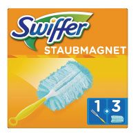 Swiffer Staubmagnet Set (1 Griff und 3 Staubmagnet Tücher) 1er Pack